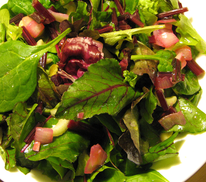 ... cumin vinaigrette beet green chopped salad beet green chopped salad